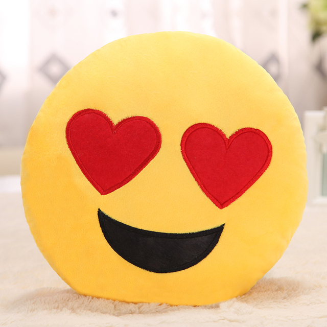 Creative Cartoon decorative pillows lovely eyes smail Cushion Nap Washable Waist Cute yellow seat cushion Toy