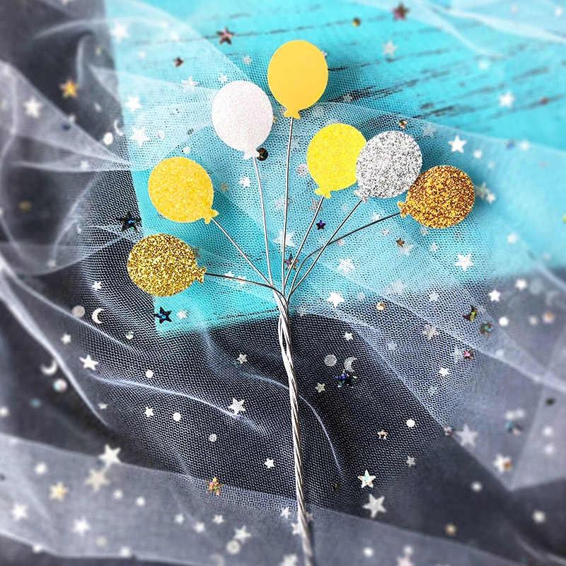 Креативный блеск маленький шар Железный торт Топпер кекс украшение для кексов Беби Шауэр детский день рождения Свадебные сувениры Аксессуары