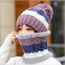 Winter Hats For girls Skullies Beanie Hat Winter Cap Men Women Wool Scarf Caps Set Balaclava Mask Gorras Bonnet Knitted Hat 2016 new fashion winter autumn hats for lady girls knitting wool pompons cute caps with ear skullies beanie female gorras 2016 page 3