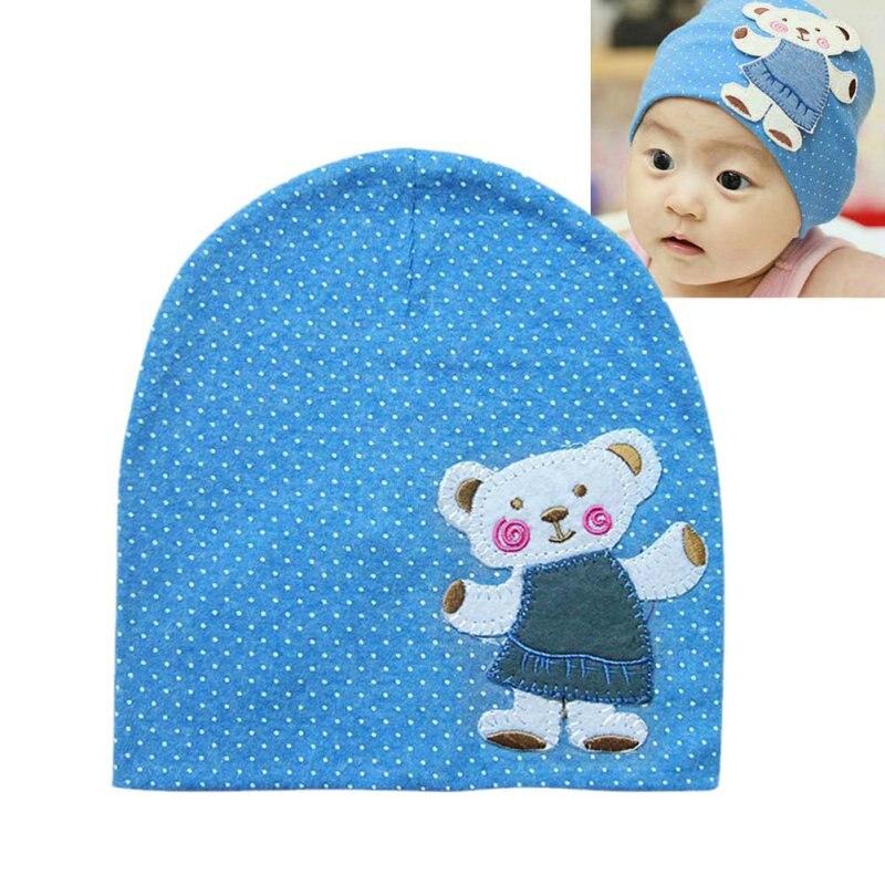 Fashion Unisex Autumnborn Crochet Baby beanie Hat Girl Boy Cap Infant Winter Bear Cotton Cartoon Hats