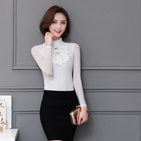 Autumn New Suit Head Coat Chiffon Tattoo Tide Flower Girl Lace Show Women Unique Temperament 2018