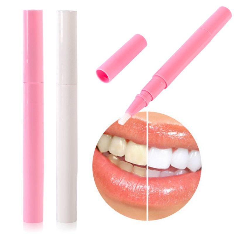 Useful Tooth Whitening Gel Pen Whitener Cleaning Bleaching Kits Dental Teeth White Pink