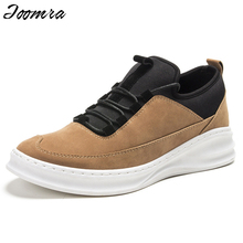 2016 New Leather Men Casual Shoes Height Increasing Loafers Comfortable Student Fashion Walking Shoes