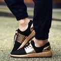 2016 Nuevo Transpirable Zapatos de Malla Hombres Zapatos Planos Ocasionales de Los Hombres Al Aire Libre Negro Cesta de Tenis Feminino Femme