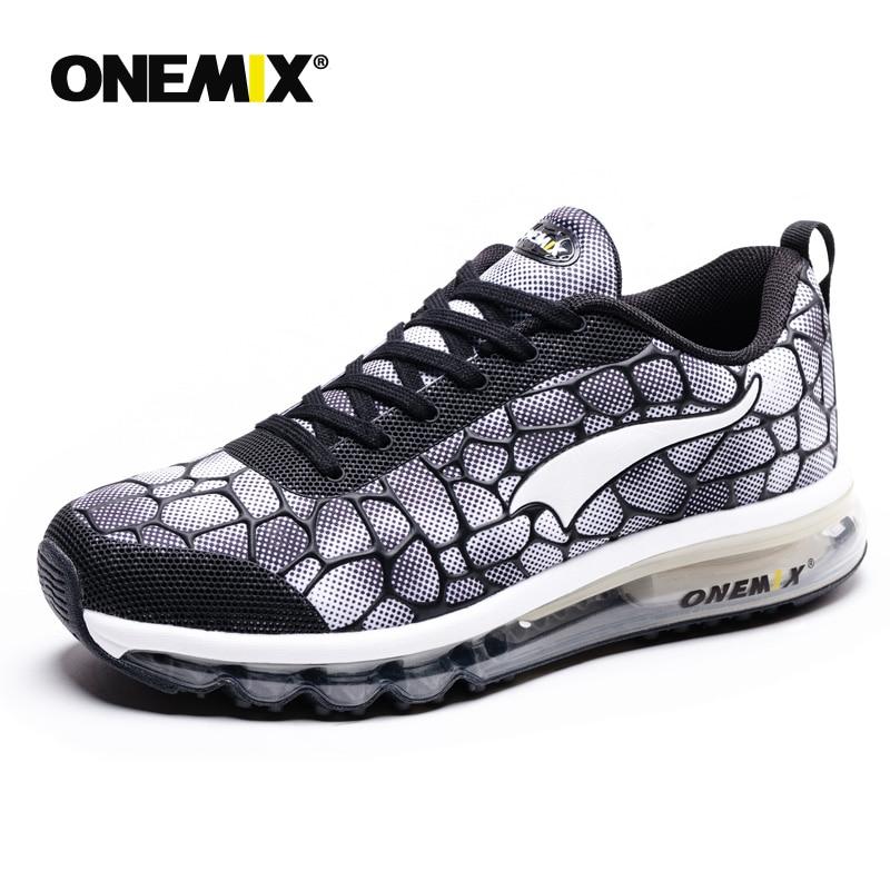 Onemix nouveaux hommes chaussures de course respirant en plein air athlétique marche baskets hommes sport chaussures de course grande taille 35-47 - 5
