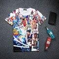 Nuevos kyrie irving y stephen curry de Impresión 3D T-shirt de Algodón Unisex Del Verano Tee Shirt Fans Adolescentes Sueltos Homme Jugador Tops