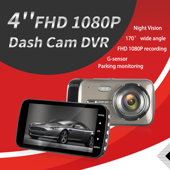 "Car DVR FHD 1080P 4"" Wide Angle IPS Dash Camera Video Recorder Dual Lens G-Sensor Parking Motion Detection Night Vision Dash Cam"