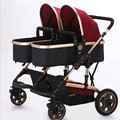 Twin baby trolleys with high landscape damping are foldable