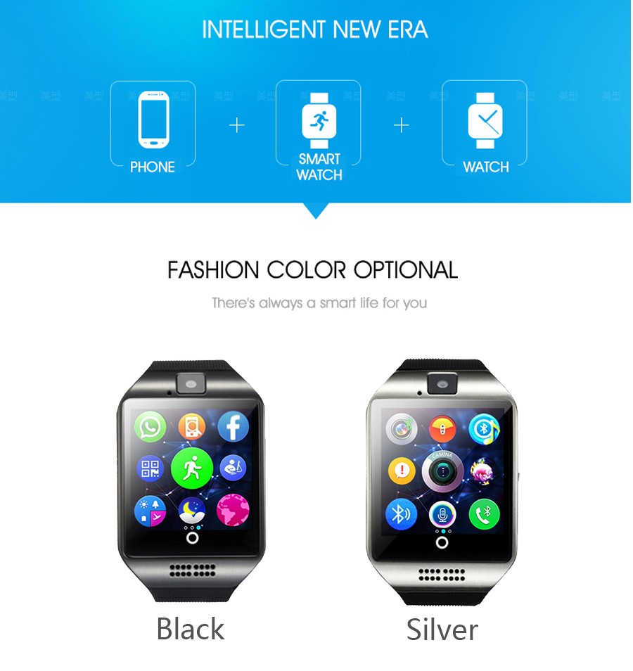 Bluetooth Smart Watch Q18 With Camera Facebook Whatsapp Twitter 032