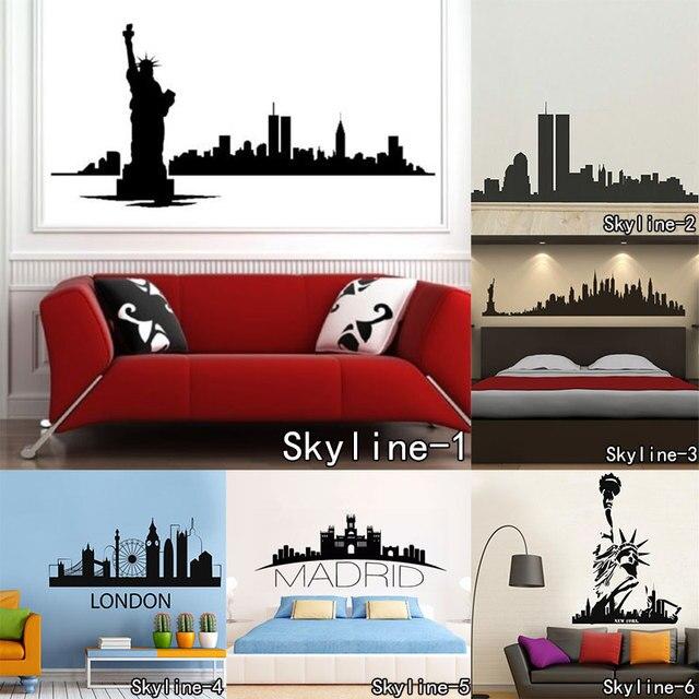 DSU World Famous Landmarks Wall Sticker Skyline Wall art Living Room ...
