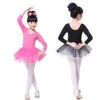 Girls Tulle Dots Lycra Cotton Professional Ballet Tutus Dance Competition Dress Kid Ballerina Dancewear Costumes Dancing