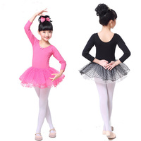 Girls Tulle Dots Lycra Cotton Professional Ballet Tutus Dance Competition Dress Kid Ballerina Dancewear Costumes Dancing