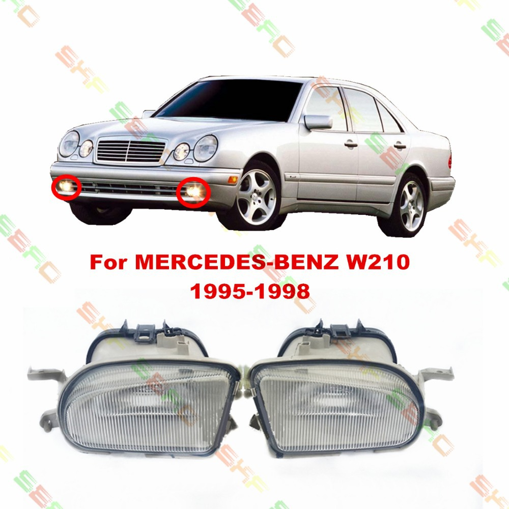 Для Мерседес-Бенц Е-класса W210 1995/96/97/98 стайлинга автомобилей противотуманные фары лампы 1 комплект стекло картины