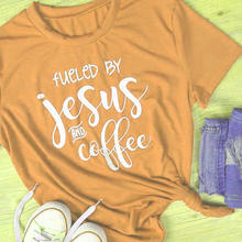 """Christian T-Shirt """"Fueled by Jesus and Coffee"""""""