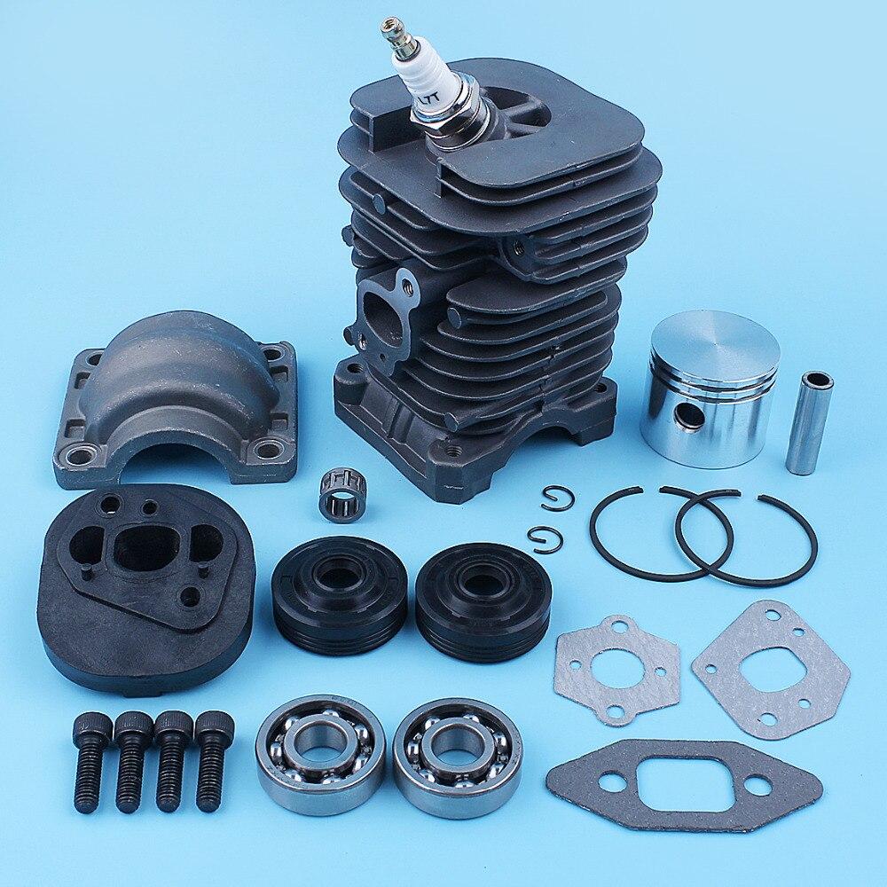 Tools : Nikasil Cylinder Piston Crank Bearing Seal Gasket Kit For Poulan PP220 PP221 PP260 1950 2150 2250 2450 2550 SM4018 Chainsaw 41mm