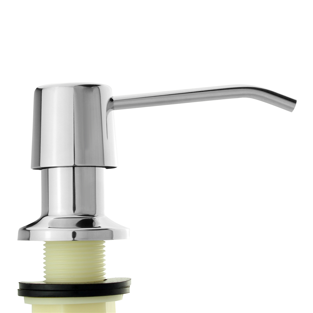 304 Polish Finish Stainless Steel Kitchen Sink Liquid Soap Dispenser 17 OZ Bottle /3.15 Inch Threaded Tube for Deck Installation 304 polish finish stainless steel kitchen sink liquid soap dispenser 17 oz bottle 3 15 inch threaded tube for deck installation