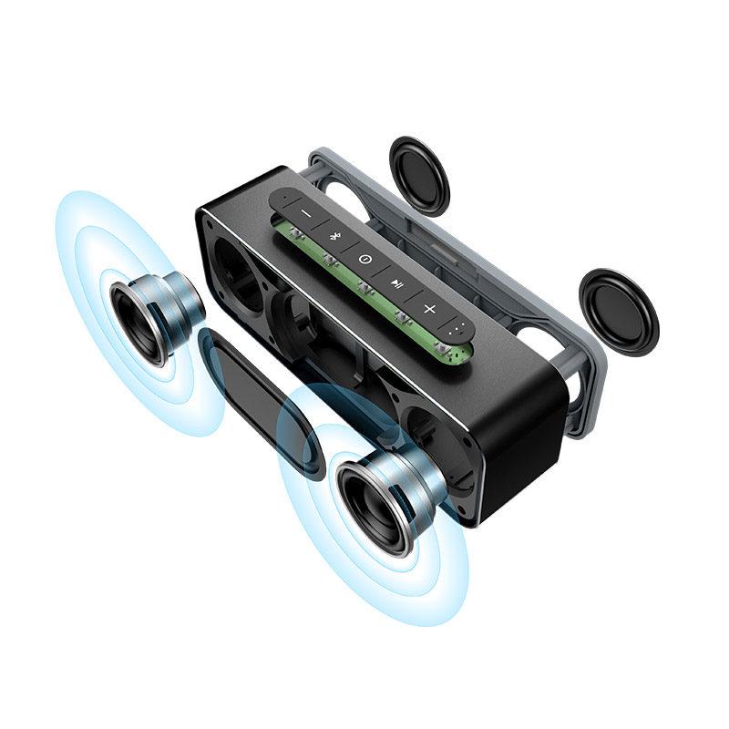 MIFA Portable Bluetooth Haut-Parleur Sans Fil Stéréo Son Boombox Haut-parleurs avec Mic Soutien TF AUX TWS - 2