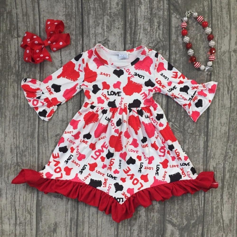 Aliexpress.com : Buy baby girls fall Valentine's day dress ...