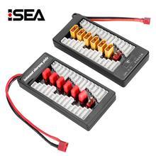 Multi 2 s 6 s t plug xt60 deans placa de carga paralela para rc carregador de bateria b6ac a6 720i paralelo 6 em 1 placa de carregamento