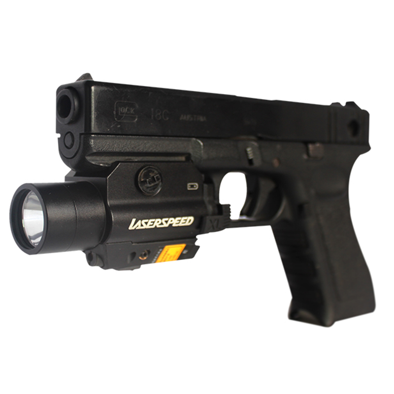 Acecare Promotion Hot Drop Shipping LS-CL2-R Red Beam Laser Sight And Tactical Flashlight Combo For Pistol With Strobe Light
