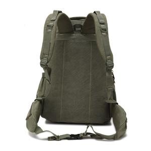 Image 2 - AERLIS projekt mężczyźni plecaki płótno College torba na Laptop odkryty piesze wycieczki nastolatek wojskowy podróży duża Cmping plecak mężczyzna 9118