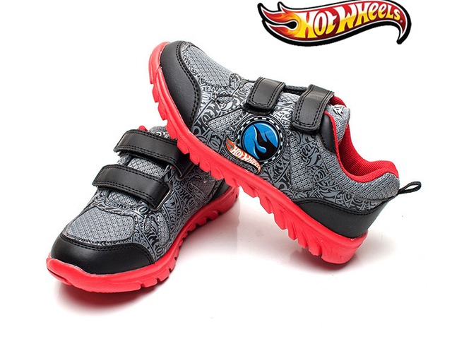 e91085326b77 Hot wheels male child sports casual shoes large children slip-resistant  wear-resistant ultra-light running shoes