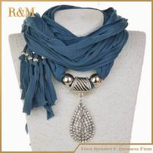 [RUNMEIFA]  NEW diamond pendant scarf rhinestones charm Jewelry scarves necklace women's pendant scarf