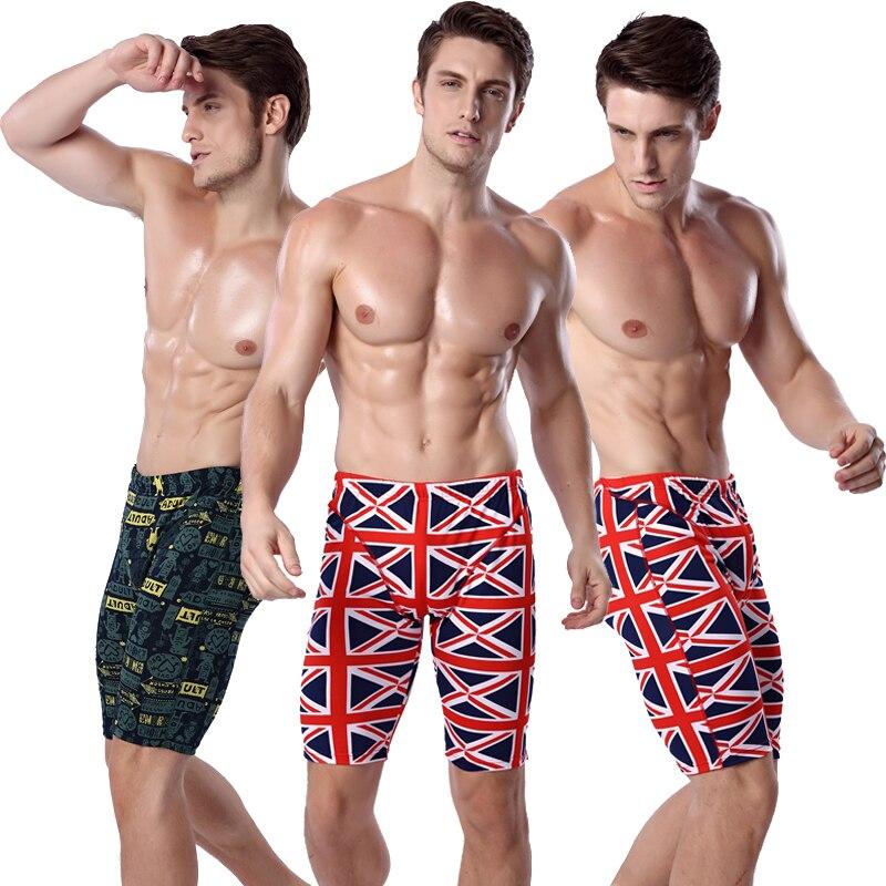 영국 국기 무릎 길이 남성 수영 트렁크 수영복 허리 넥타이 남성 수영복 복서 큰 플러스 사이즈 섹시한 남성 해변 재머 드롭 배송