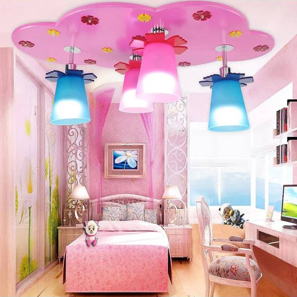 Kids bedroom ceiling lights - Lustre Lighting Acrylic Wooden Led Kids Ceiling Light 110v 220v E27 Living Room Children Lamp