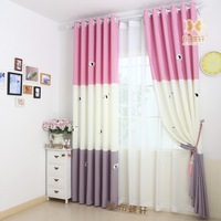 Princess Curtain Children Room Blackout Girl Drapes Cartoon Blinds Blue Boy Window Panels Dog Tulle And