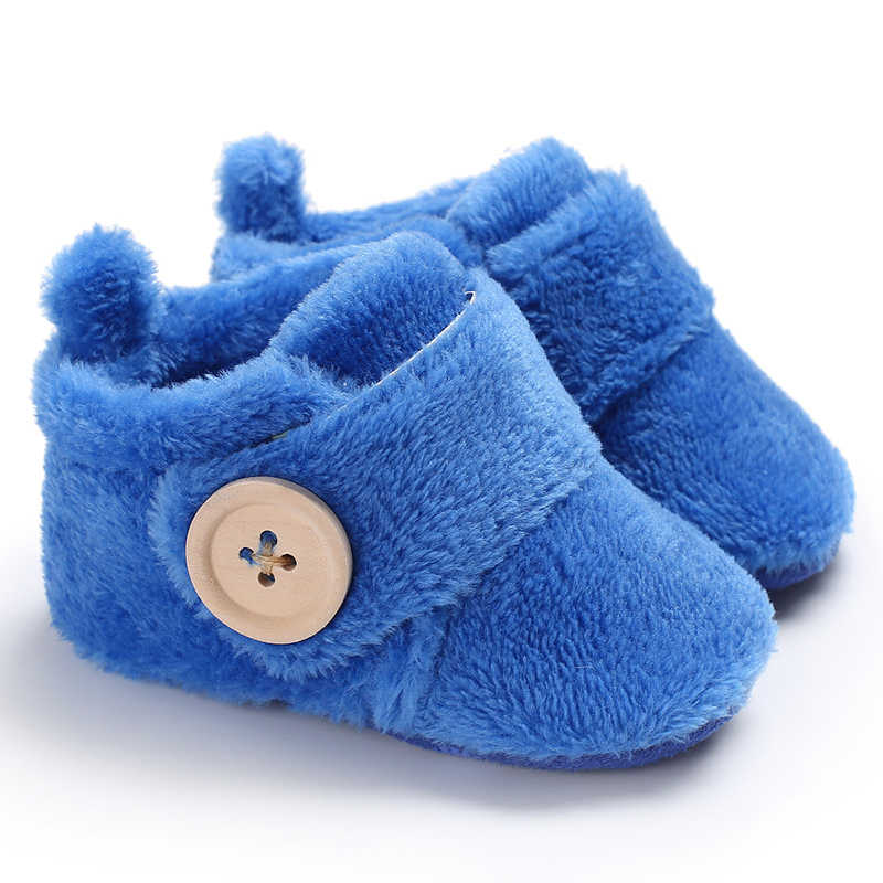 New Baby Boys Girls Shoes Solid Boots Crib Bebe Footwear Newborn Winter Warm Short Booties Soft Sole First Walker Prewalkers