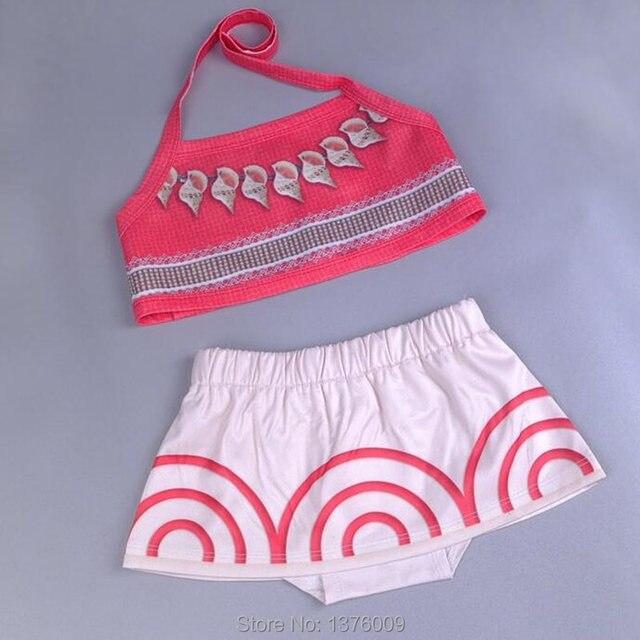 Toddler Baby Girls Moana Cosplay Swimwear Suit Kid Children Beachwear  Bikini Cartoon Swimming Costume