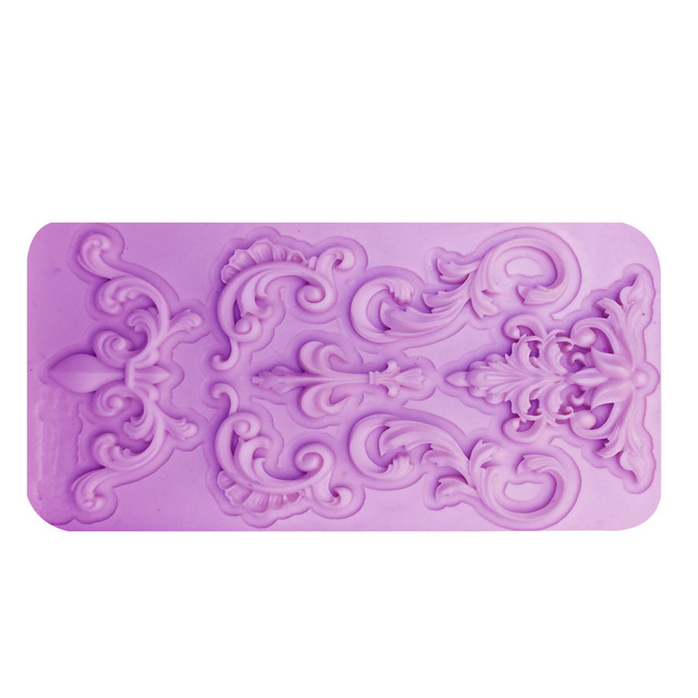 M0984 DIY Lace Flower Vine Pattern Silicone Cake Mold Mat Fondant Cake Decorating tools Silicone Chocolate Candy Mould