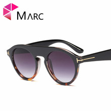MARC Trend 2019 Personality Sunglasses Men glasses Leopard print Oculos Fashion Brand Designer 2019 Round Grandient Clear Lens 1 ed brubaker marc silvestri x men messiah complex 1 2nd print