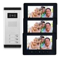 2/3/4 Units Apartment intercom system Video Door Phone Door Intercom HD Camera 7 Monitor video Doorbell for 2 4 Household