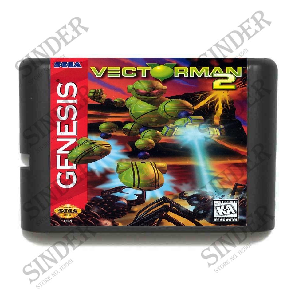 Vectorman 2 16 bit MD Game Card For Sega Mega Drive For Genesis