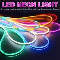 5/10/15/20M LED Flexible Strip Light AC 220V SMD 2835 LED Neon flex tube 120led IP65 Waterproof rope string lamp + EU Power plug