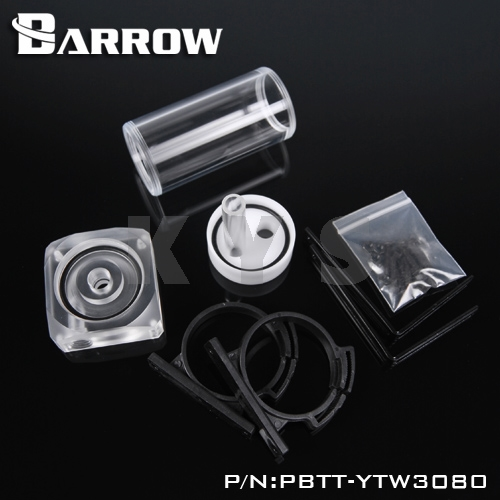 Barrow PMMA DDC Pump Integration Reservoir Mod Kit PBTT-YTW3080 Top Cover barrow pmma ddc pump integration reservoir mod kit pbtt ytw3080 top cover