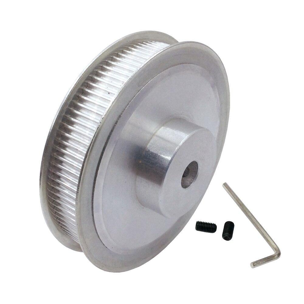 HTD 3 m 100 Dents Courroie de distribution Poulie En Alliage D'aluminium Moteur Roue pas de Dent 3mm Trou Diamètre 10mm 12mm 16mm Dents Largeur 16mm