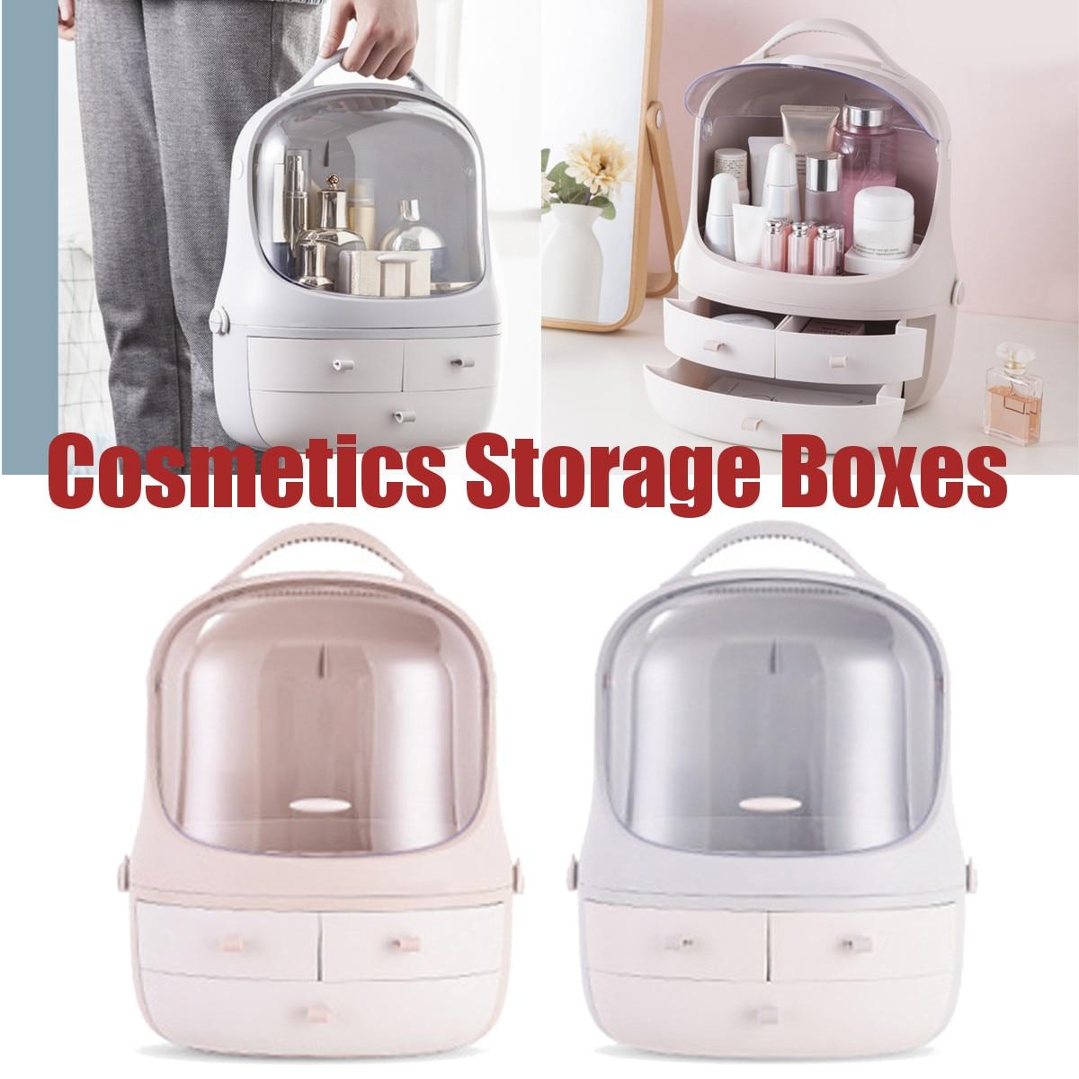 Plastique cosmétique tiroir maquillage organisateur maquillage boîte de rangement conteneur porte-ongles bureau divers salle de bains mallette de rangement