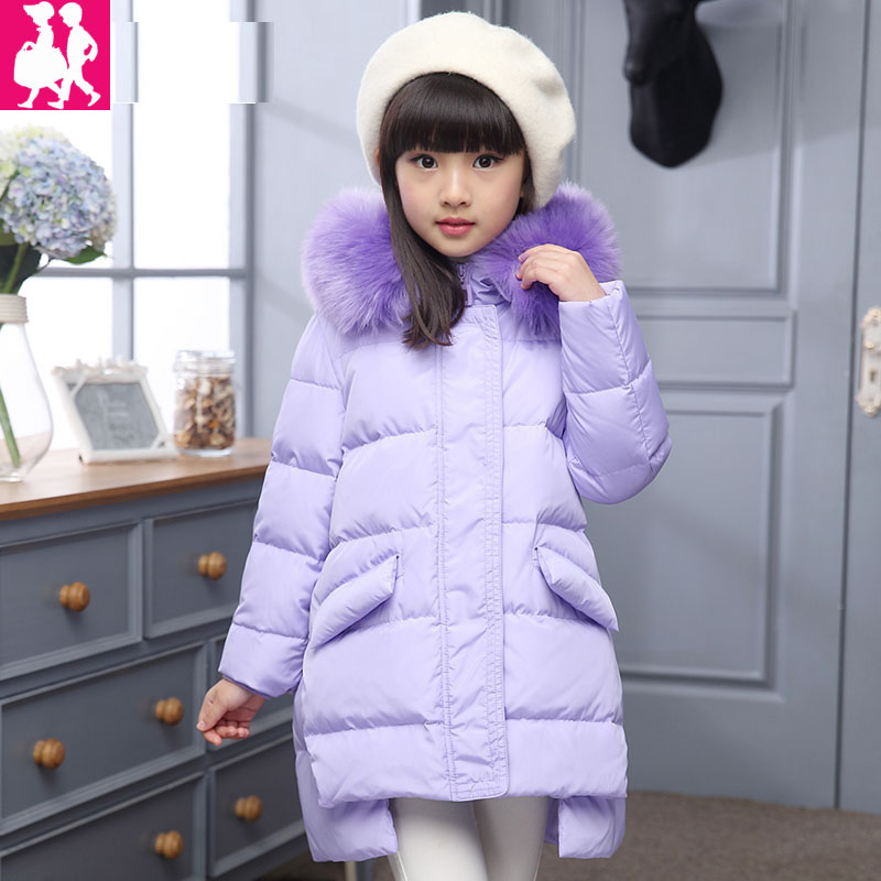 Girls Winter Jackets Kids Hooded Coats Thick -30 Degree Children's Warm Parkas Baby Brand Clothes With fur High Quality Outdoor plus size women winter jackets lengthened down cotton coats high quality hooded fur collar parkas thick warm jackets okxgnz 1149