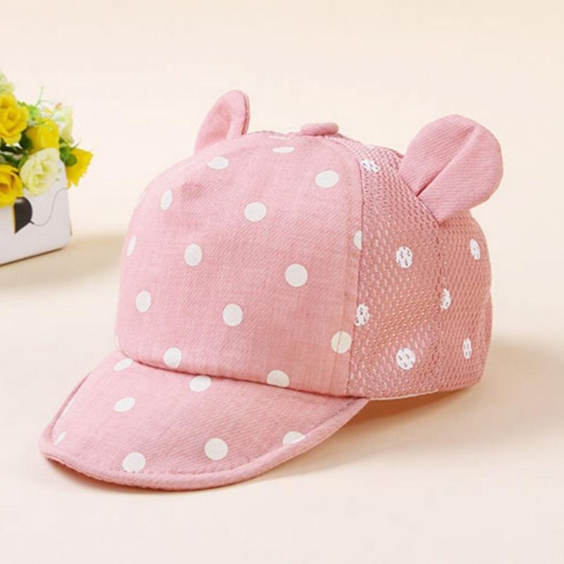 Śliczne kropki Little Ear Hat Kids Cap Noworodek Toddler Girl Boy - Odzież dla niemowląt - Zdjęcie 2