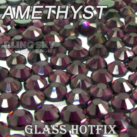 Amethyst BIG PACKAGE Hot Fix Rhinestones SS6 SS10 SS16 SS20 SS30 DMC Flat Back Crystals Glitters stone strass for DIY garment