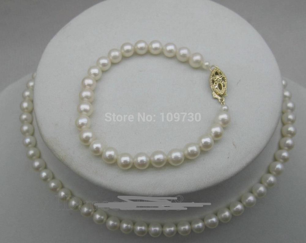 Jewelry 00717 AAA 5-5.5mm White Pearl Set Necklace 12 Bracelet 5.5 Newborn Jewelry и и васенев почвенные сукцессии isbn 978 5 382 00717 5