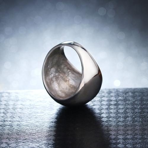 Soonory Wedding bands anello di modo fatto di metallo in colore grigio sia per uomo e donna di Bellezza e gioielli