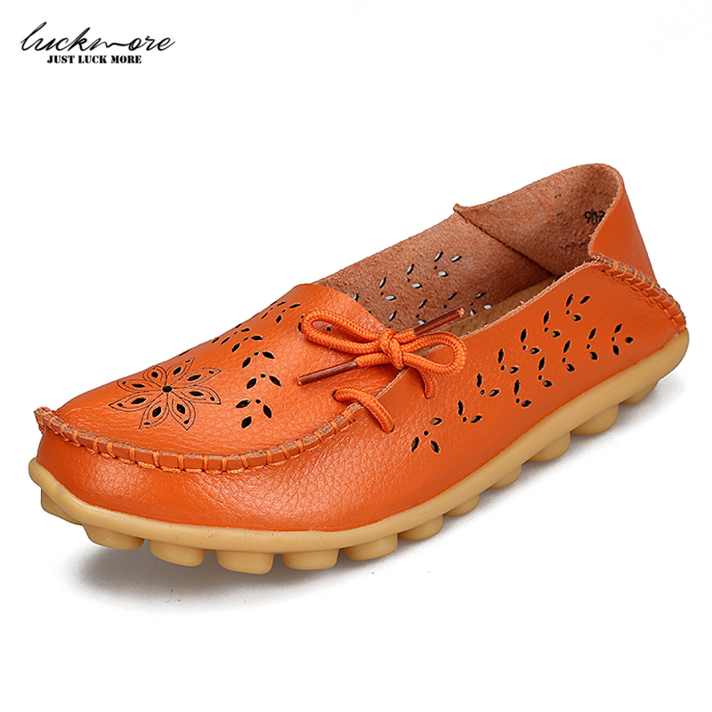 Genuine Leather Women Casual Shoes 2017 Spring Fashion Woman Flats Footwear Designer Slip on White Ladies Loafers High Quality genuine leather women flats shoes new 2015 slip on woman fashion leather loafers brand designer bow sapato feminino flat shoes