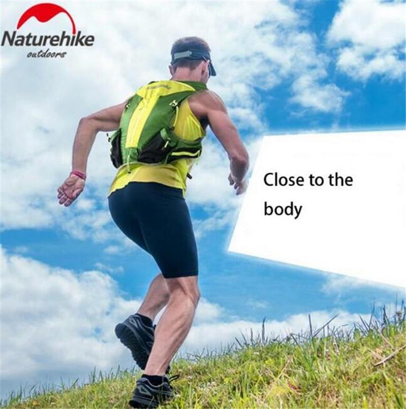 Naturehike hombres mujeres 12L al aire libre senderismo mochilas peso ligero Marathon mochila Close Fitting táctico paquetes bolsa para correr - 2