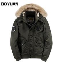 BOYUAN Winter Parka Men 2017 New Arrival Casual Parkas Para Homens Winter Jacket Men Hooded Coat Bomber Jacket Outerwear DSW2531