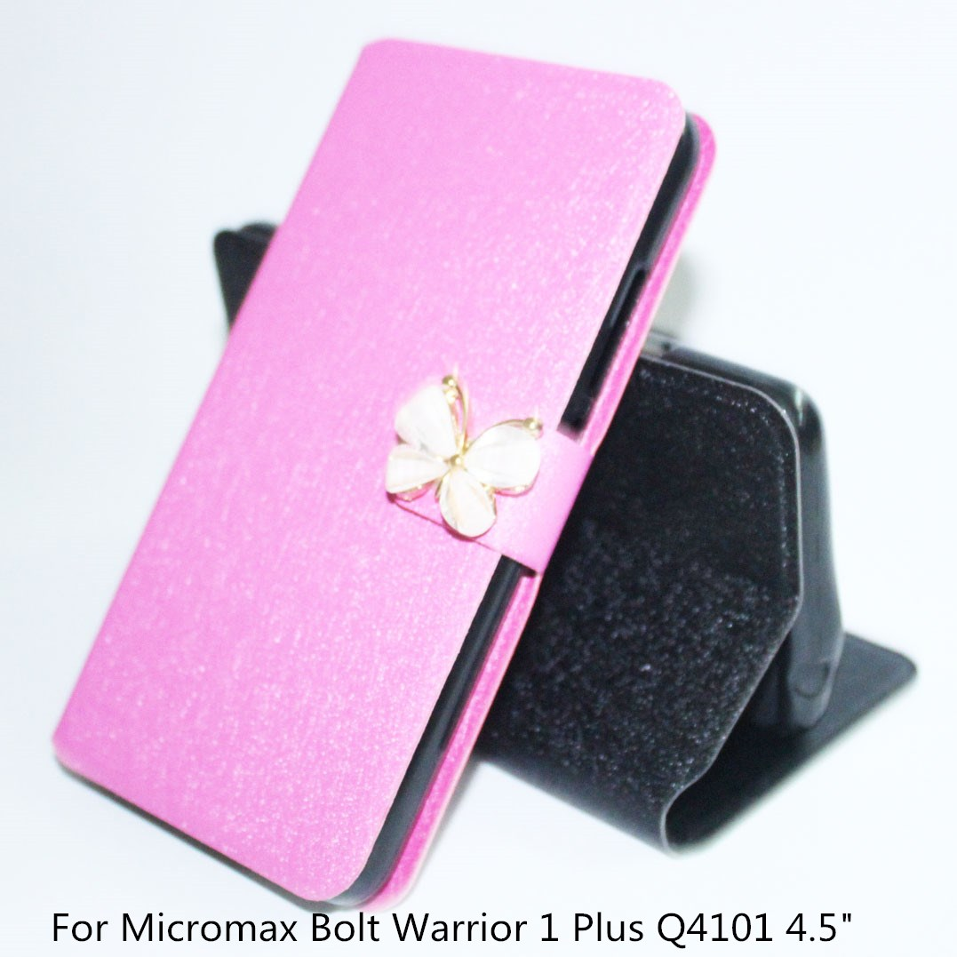 For Micromax Bolt Warrior 1 Plus Q4101 4.5 Cases PU Leather Phone Case For Micromax Q4101 Cover Bag fundas