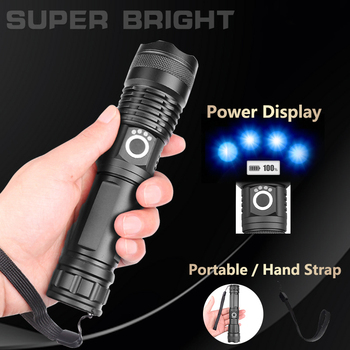 Drop Shipping xhp50.2 most powerful flashlight 5 Modes usb Zoom led torch xhp50 18650 or 26650 battery Best Camping, Outdoor 5